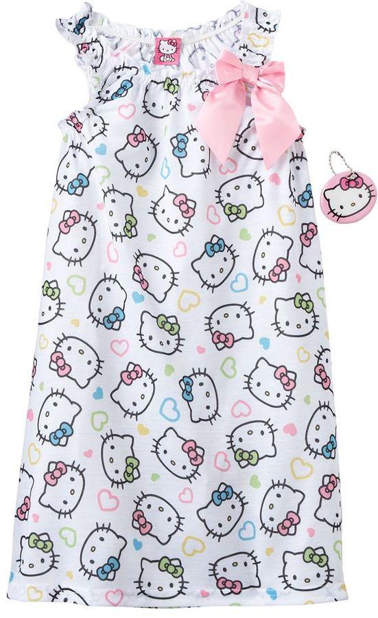 Hello Kitty ruffle nightgown - girls