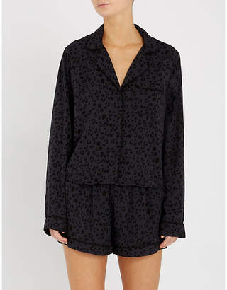Rails Cheetah-print cotton-blend pyjama set