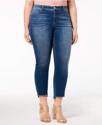 INC International Concepts I.n.c. Plus Size Step-Hem Jeans, Created for Macy's