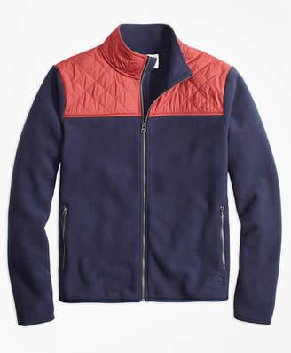 Brooks Brothers Quilted-Yoke Polar Fleece Jacket