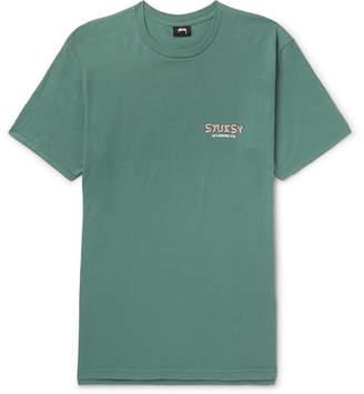 Stussy Psycho Tropics Printed Cotton-Jersey T-Shirt