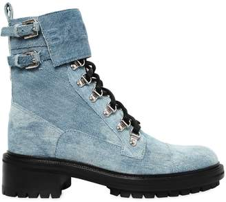 Balmain 45mm Cartel Denim Ranger Boots