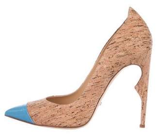 Jerome C. Rousseau Cork Cap-Toe Pumps