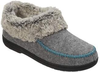 Dearfoams Felted Faux Wool Slipper Booties