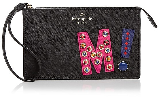 Kate Spade kate spade new york Leila Letter Saffiano Leather Wristlet
