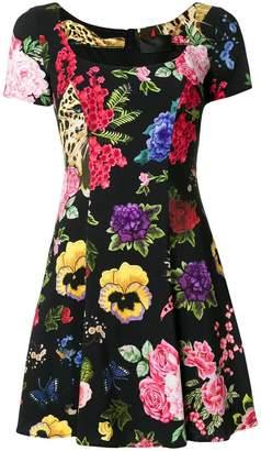 Philipp Plein floral embroidered dress