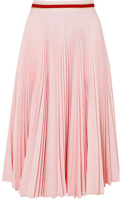 Calvin Klein Pleated Crepe Midi Skirt - Baby pink
