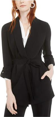 Bar III Shawl-Collar Belted Blazer
