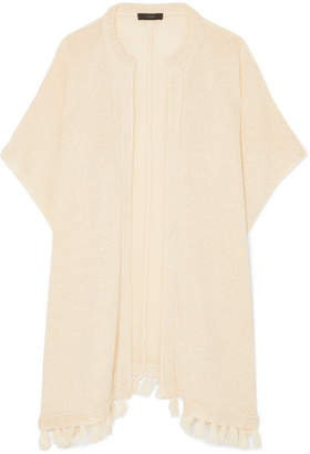 J.Crew Haven Tasseled Linen Cardigan - Cream