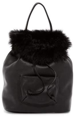 Elizabeth and James Langley Genuine Sheep Fur Backpack