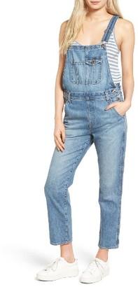 Women's Ag Leah Linen Overalls $298 thestylecure.com