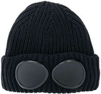 C.P. Company signature goggles beanie hat
