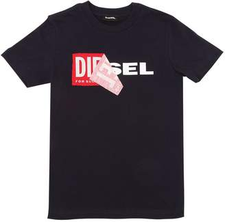 Diesel Reworked Logo Cotton Jersey T-Shirt