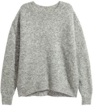 H&M Mohair-blend Sweater - Gray