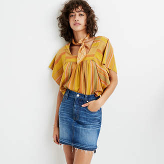Madewell Step-Hem Jean Skirt in Brandt Wash