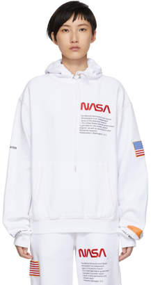 Heron Preston White Fleece Hoodie