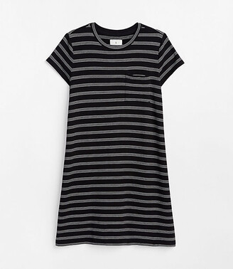 e0a13c4549c8 Lou & Grey Striped Signaturesoft Pocket Tee Dress
