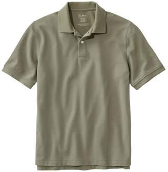 L.L. Bean L.L.Bean Men's Premium Double LA Polo Banded, Short-Sleeve Without Pocket