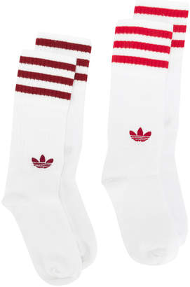 adidas Solid Crew two-pack socks
