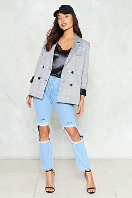 Nasty Gal Drifted Apart Distressed Jeans