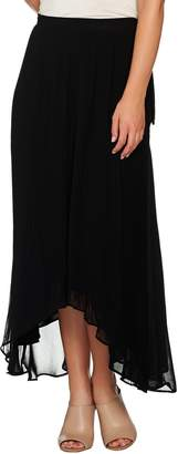 Halston H By H by Pleated Wrap Skirt with Side Tie Detail