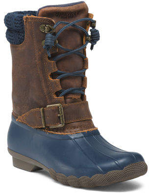 Waterproof Mid Shaft Leather Boots