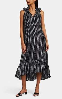 Masscob Women's Dunn Floral Silk Dress - Black