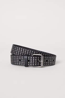 H&M Studded Leather Belt - Black