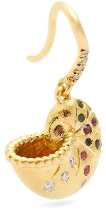 Aurelie Bidermann FINE JEWELLERY Diamond, multi-stone & yellow-gold single earring