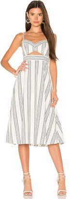 BCBGMAXAZRIA Cut Out Midi Dress