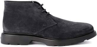Hogan H304 Dark Grey Suede Ankle Boots