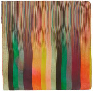 Paul Smith Multicolor Silk Artist Clash Stripe Pocket Square