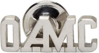 Oamc Silver Logo Pin