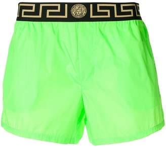 Versace logo waist swim shorts