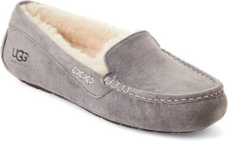 UGG Light Grey Ansley Mocassin Slippers