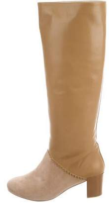 Schumacher Leather Knee-High Boots w/ Tags