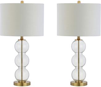 Jonathan Y Designs Set Of 2 Bella 27In Glass Triple-Sphere Table Lamps