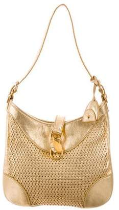 Ralph Lauren Woven Leather Hobo