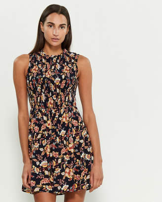 BeBop Navy Smock Allover Floral Dress