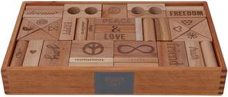 story. Wooden Peace & Love Wooden Blocks, 108 Pieces