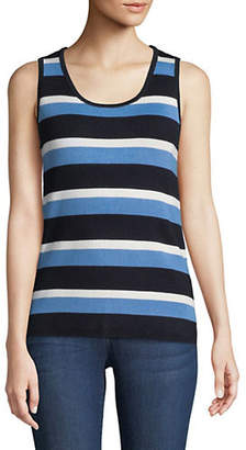 Jones New York Striped Scoop Neck Tank Top