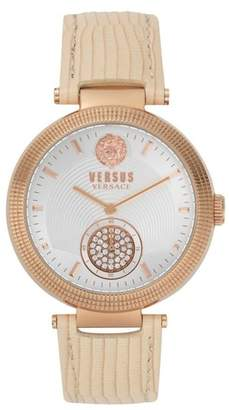 Versace VERSUS  Star Ferry Leather Strap Watch, 38mm