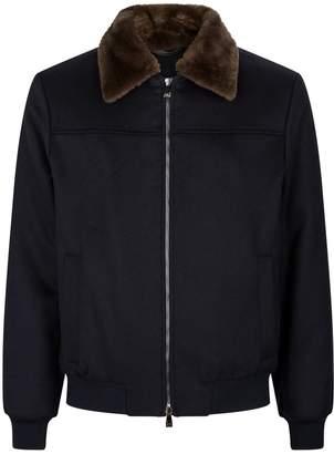Corneliani Fur Collar Wool Jacket