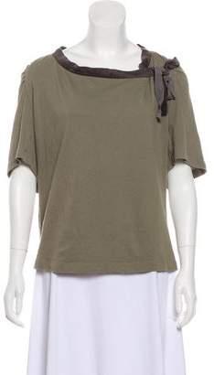 Dries Van Noten Short Sleeve Knit Top