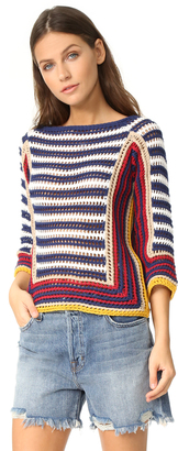 RED Valentino Colorblock Sweater $595 thestylecure.com