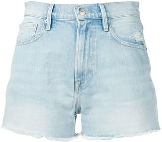 Frame Le Vintage denim shorts