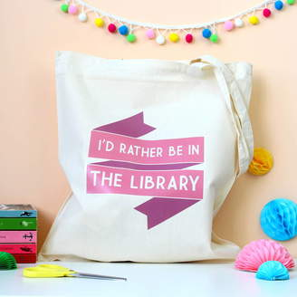 LIBRARY Fable & Black I'd Rather Be In The Tote Bag