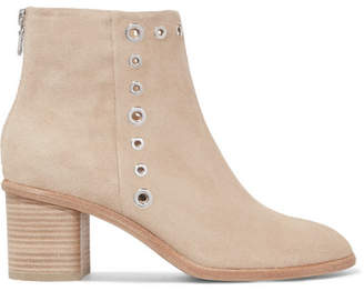 Rag & Bone Willow Embellished Suede Ankle Boots - Beige
