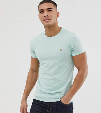 Farah Gloor slim fit marl t-shirt in green Exclusive at ASOS