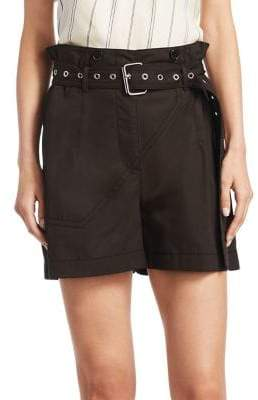 3.1 Phillip Lim Utility Belted Cotton Shorts